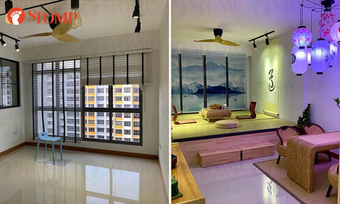 Singaporean guy spends $15k to turn regular Sengkang HDB flat into Japanese-themed living