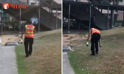 SBS Transit to take disciplinary action against bus captain who discarded cigarette butt on grass near Serangoon MRT Station