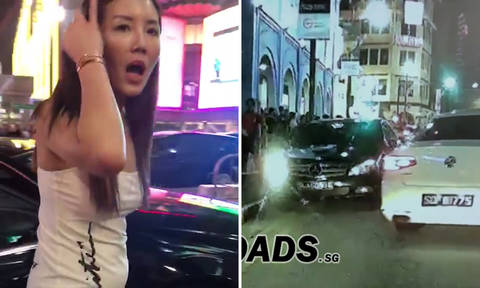 New video shows Merc driver going against traffic despite pedestrians and motorist trying to stop her