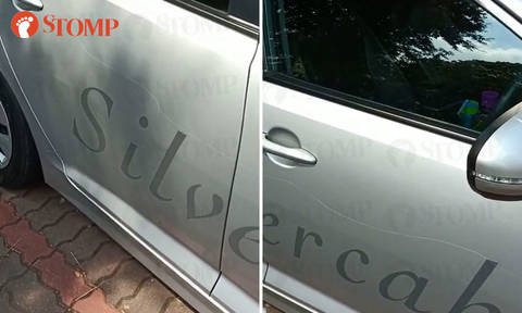 "Cabby finds long scratch on her taxi parked at Changi Village carpark: ""Even cabs are not spared!"""