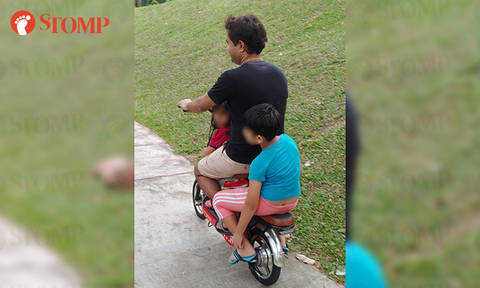 Man rides PMD with 2 kids on pavement in Woodlands: 'Government can't do anything to me until Dec 30'