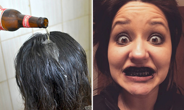 Washing hair with beer -- and other unconventional beauty hacks that actually work