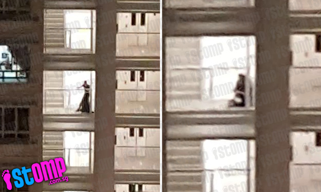 Couple engages in PDA at Sembawang HDB flat -- then hit 'second base' at staircase