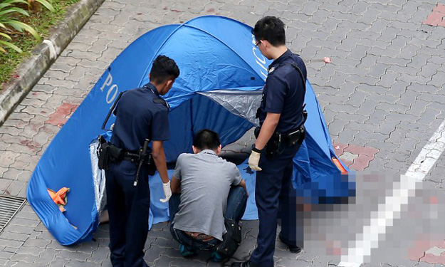 14-year-old boy found dead at foot of HDB block in Yishun -- on the same day after he was investigated for outrage of modesty