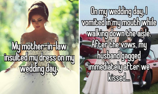 Worst things that can happen at a wedding -- according to these confessions
