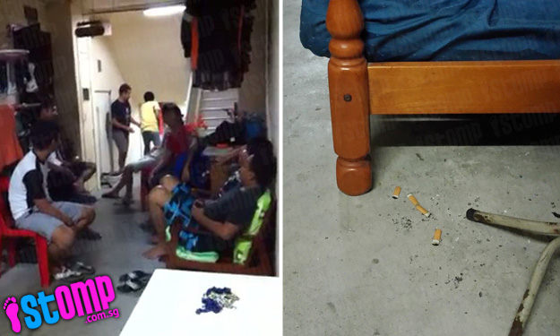 Neighbour from hell turns common area into private 'chillax' corner for friends -- chatting and smoking till early morning