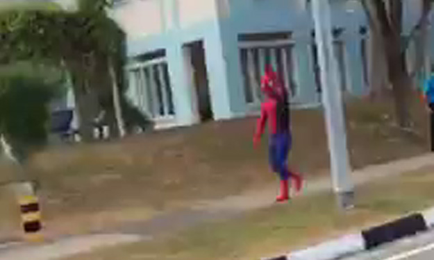 Say hello to Pasir Ris's own friendly neighbourhood Spider-Man