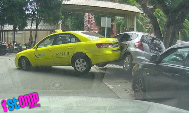 Sacked for reckless driving: Cabby who sped off after reversing into car at Redhill carpark