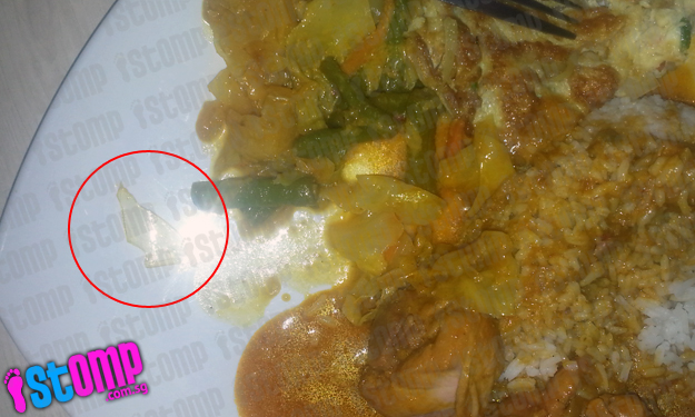 Man finds piece of plastic in curry rice from stall at Bukit Panjang Hawker Centre and Market