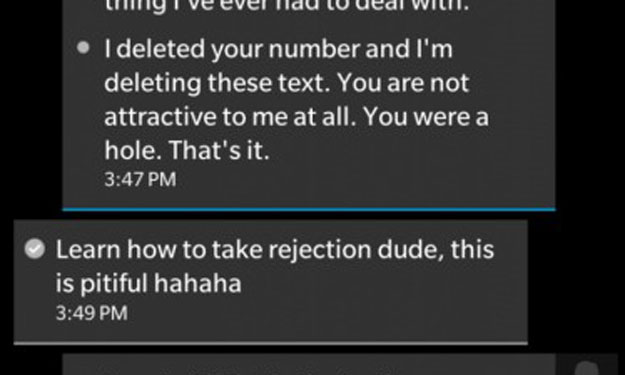 'Nice guy' turns nasty after girl refuses to send him nudes