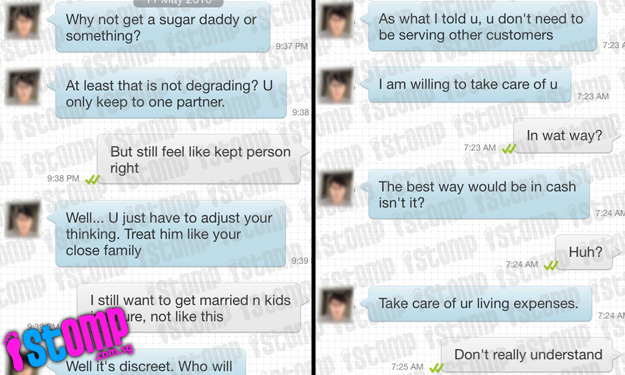 19-year-old girl's conversation with older guy on BeeTalk takes weird turn when he offers to become her 'pimp' and 'sugar daddy'