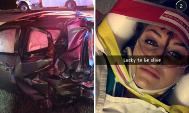 Teen girl uses Snapchat while speeding and causes crash that leaves Uber driver with brain damage