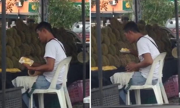 Love durians? Watch the disgusting way this Malaysian seller wraps your favourite fruit