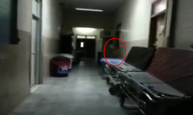 Don't watch this alone: Ghostly figure caught on video at creepy hospital