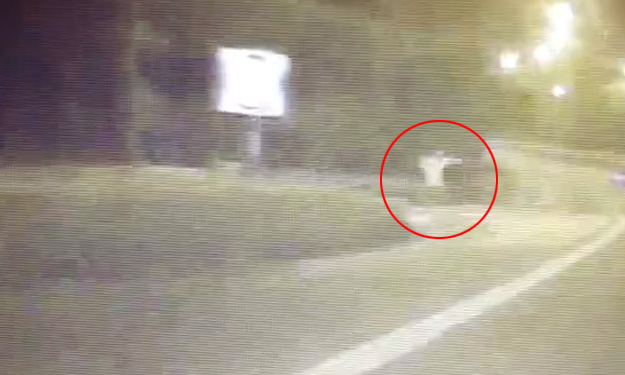 Driver spots spooky floating figure on PIE