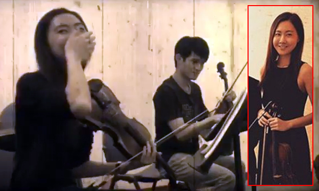 Chio S'pore violinist's little blunder during rehearsal is too cute for words